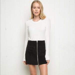 Brandy Melville Black Clarity Tight Pocket Skirt